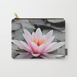 Pink Lotus Flower Waterlily Carry-All Pouch