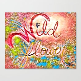 Pink Pastel Wildflower Canvas Print