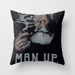 Man Up Throw Pillow