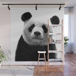 Black and white panda portrait Wall Mural