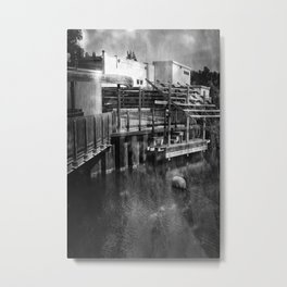 Leeland Michigan Deck Metal Print