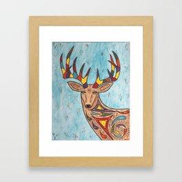 The Colorful Deer Framed Art Print