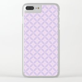 Abstract geometric pattern lavender Clear iPhone Case