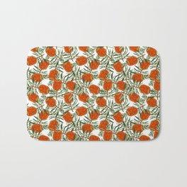 Bottlebrush Flower - White Bath Mat