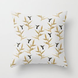 Hummingbird & Flower II Throw Pillow