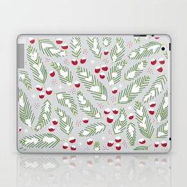 Winter Berries in Gray Laptop & iPad Skin
