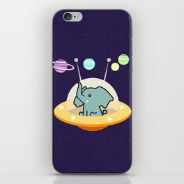 Astronaut elephant: Galaxy mission iPhone Skin