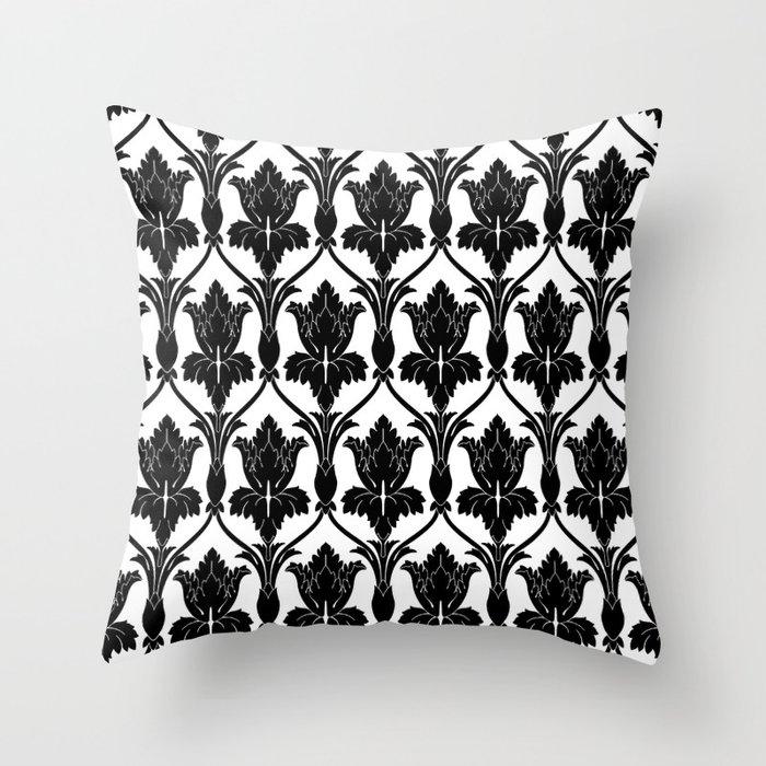 221b Baker Street Fleur De Lis Throw Pillow By Arrowsatmywindow