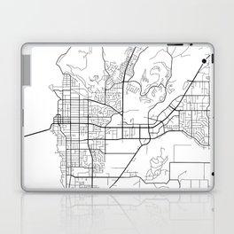 Kelowna Map, Canada - Black and White  Laptop & iPad Skin