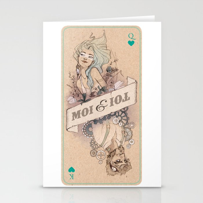Toi et Moi - Queen and King Stationery Cards
