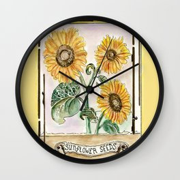 Sunflower Seeds Wall Clock