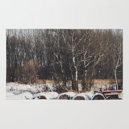 The Tractor and the Snow Rug