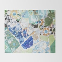 Mosaic of Barcelona VII Throw Blanket