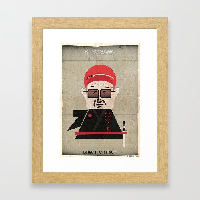 031_directportrait_Akira Kurosawa Framed Art Print by federicobabina ...