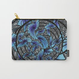 Mandala Blue Grey Abstract Carry-All Pouch