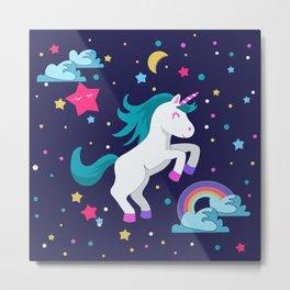 Unicorno Metal Print