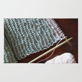 knitting, knitting photos, oatmeal color, peach, natural color, scarf, cotton Rug