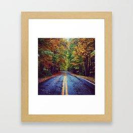 Hudson Valley Autumn Road Framed Art Print