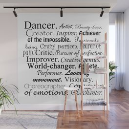 Dancer Description Wall Mural