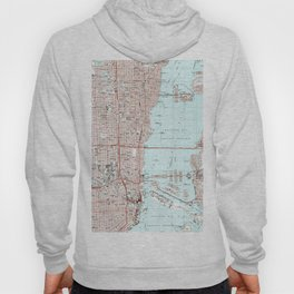 Miami Florida Map (1988) Hoody