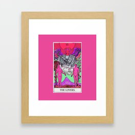6. The Lovers- Neon Dreams Tarot Framed Art Print