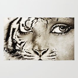 Tiger or woman Rug