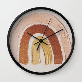 Vintage rainbow painting Wall Clock
