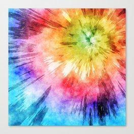 Tie Dye Watercolor Canvas Print