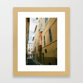 Trash Chute Framed Art Print