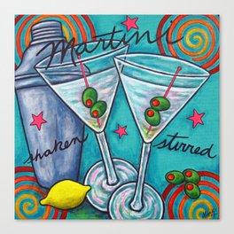 Retro Martini Canvas Print
