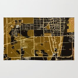 Fort Lauderdale old map year 1949, united states old maps Rug