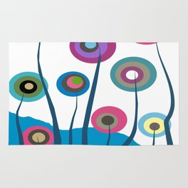 Artsy and Funky Floral Art Rug
