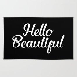 Hello Beautiful - Black and White Rug