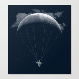 Parachute Moon Canvas Print