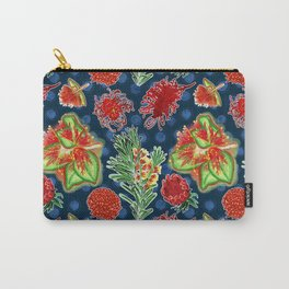 Australian Native Floral Print Carry-All Pouch