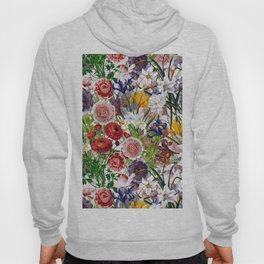 Vintage & Shabby Chic - Lush baroque flower pattern on pink Hoody