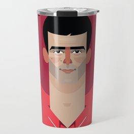 Novak Djokovic Tennis Illustration Travel Mug