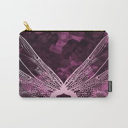 pink dragonfly wing camo Carry-All Pouch