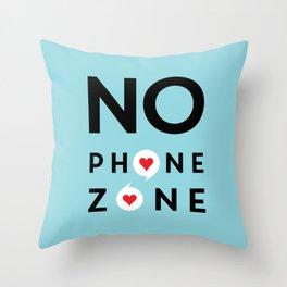 No Phone Zone Throw Pillow