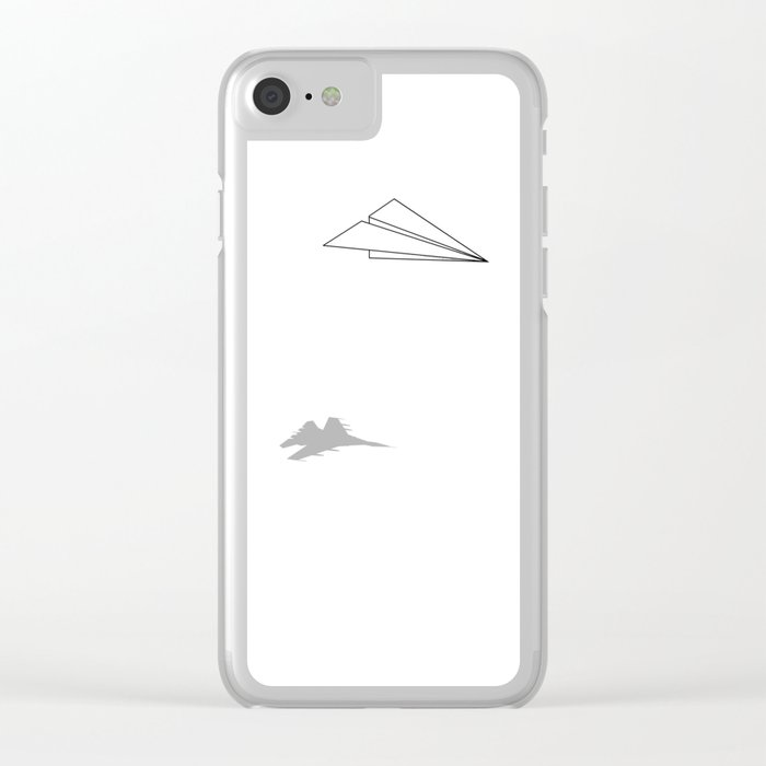 Paper Airplane Dreams Clear iPhone Case