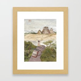 We can go there after the storm Framed Art Print