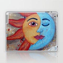SOLUNA - Sun and Moon, mixed media art painting Laptop & iPad Skin