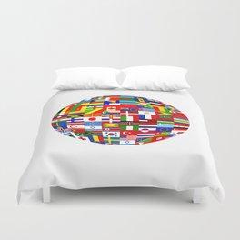 Flag World Duvet Cover
