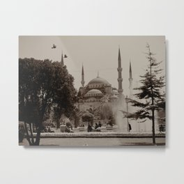 """Sultan Ahmed Mosque (""""Blue Mosque"""", Istanbul, TURKEY) from Sultan Ahmet Park Metal Print"""