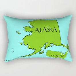 Alaska and the Lower 48 Forty-eight Rectangular Pillow