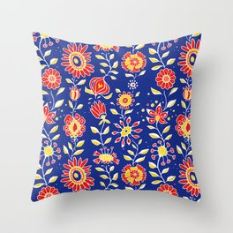 wonky wildflower waterfall ... Throw Pillow