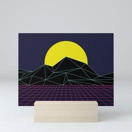 Outrun to the Sun / 80s Retro Mini Art Print