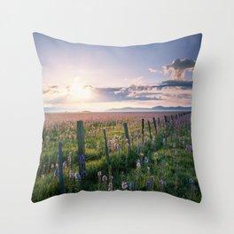 Camas Marsh Sunrise Throw Pillow