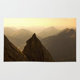 morning in mountain Rug