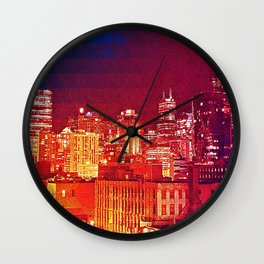 Chicago Cityscape Skyline Wall Clock
